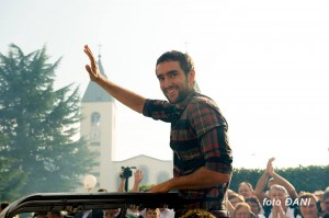 marin cilic celebrated greeted medjugorje